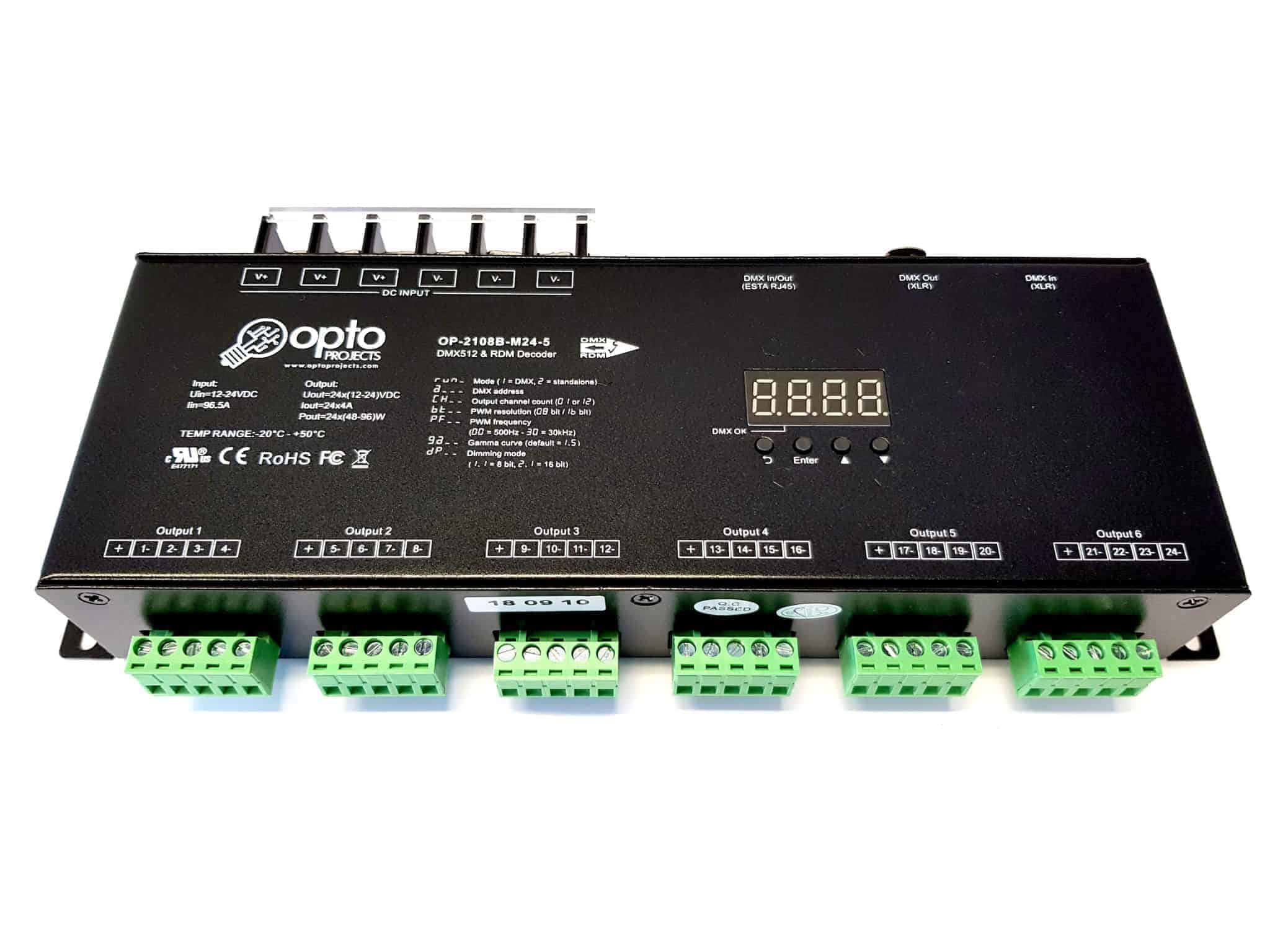 12 Channel DMX Dimmer 16bit